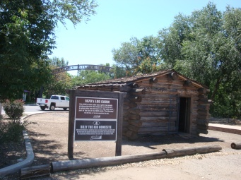 replica of Billy the Kids house which was here