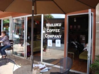 wailuku bustles at Wailuku coffee