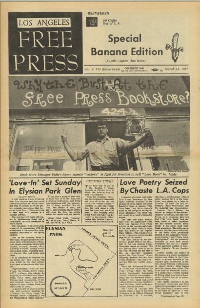 Front page announcing Love-in